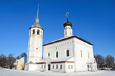 Commerce Square in suzdal, Voskresenskaya (Resurrection) Church — Stock Photo