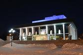 Academic theatre of drama in Vladimir at night — Stock Photo