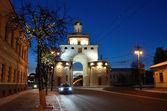 Vladimir, Golden Gate at night, Golden ring of Russia — Stock Photo