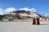 Tibet, Lhasa, Potala palace. — Stock Photo