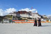 Tibet, Lhasa, Potala palace. — Stock Photo