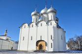 Sofiysky cathedral in Kremlin in Vologda, Golden ring of Russia — Stock Photo