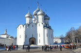 Russia, Sophiysky cathedral in Vologda Kremlin in early spring — Stock Photo