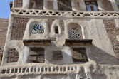 Tipical house in ancient Sana'a, Yemen — Stock Photo