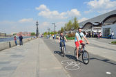 "Moscow, a cycle track in Park ""Muzeon"" — Stock Photo"