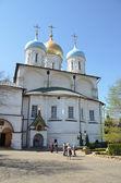 Spaso-Preobrazhensky Cathedral of the Transfiguration of Novospasskoye monastery in Moscow — Stock Photo