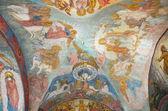 Fragment of a frescos in Spaso-Preobrazhensky Cathedral of the Transfiguration of Novospasskoye monastery in Moscow — Stock Photo