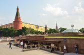 Moskou, manezhnaya plein — Stockfoto