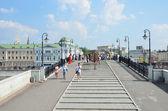 Moscow, Luzhkov bridge — Stock Photo