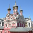Постер, плакат: Moscow the church of the Great martyr and vanquisher in Endova thea farmstead of Spaso Preobrazhensky Solovetsky monastery