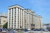 The building of the State Duma of the Russian Federation in Moscow — Stock Photo
