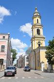 Moscow, Maliy Tolmachevsky Lane, Church of St. Nicholas in tolmachi — Stock Photo