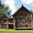 Kostroma, home, wood, village, countryside, log, log, one story, skabelkin, architecture — Stock Photo #48746359