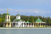 Moscow, Kuskovo, the church of the all-merciful Saviour (Born n.Benois) — Stock Photo