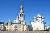 Kremlin in Vologda, Voskresensky and Saint Sofia cathedrals, Golden ring of Russia — Stock fotografie