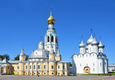 Kremlin in Vologda, Voskresensky and Saint Sofia cathedrals, Golden ring of Russia — Foto Stock