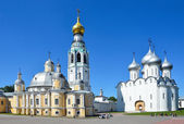 Kremlin in Vologda, Voskresensky and Saint Sofia cathedrals, Golden ring of Russia — Stock Photo