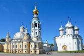кремль в воскресенский и соборы святой софии, вологда, золотое кольцо россии — Стоковое фото