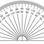 Vector illustration of protractor — Stock Vector