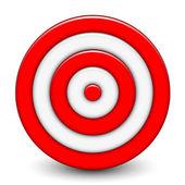 Vector illustration of 3d target — Stock Vector