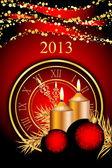 Vector 2013 año nuevo fondo — Vector de stock