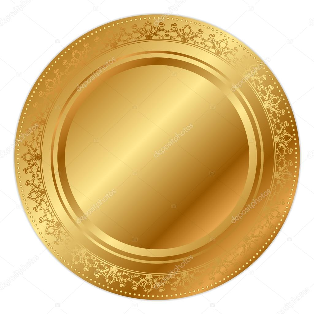 Vector illustration of gold tray  Stock Vector #12312604
