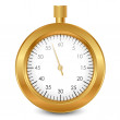 Vector de stock : Vector illustration of gold stopwatch