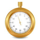 Vector illustration of gold stopwatch — Stock Vector