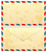 Vector illustration of old airmail envelope — Stock Vector
