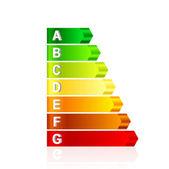 Vector energie efficiëntie schaal — Stockvector