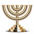Vector illustration of gold menorah (emblem of Israel) — Grafika wektorowa