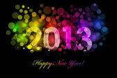 矢量快乐新的一年-2013年多彩背景 — 图库矢量图片
