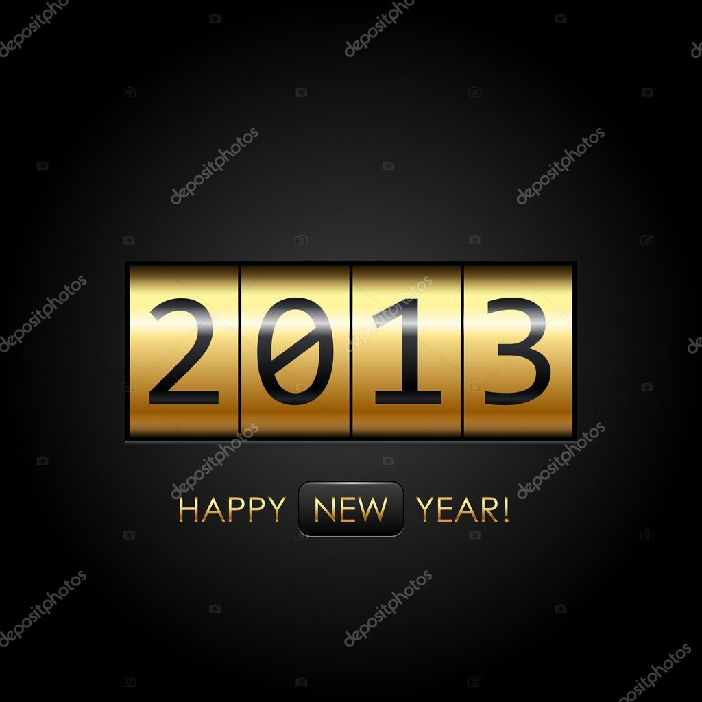 Digital &quot;Happy New Year!&quot; background  Stock Vector #14332741