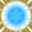 Vector background with star of david — ストックベクタ