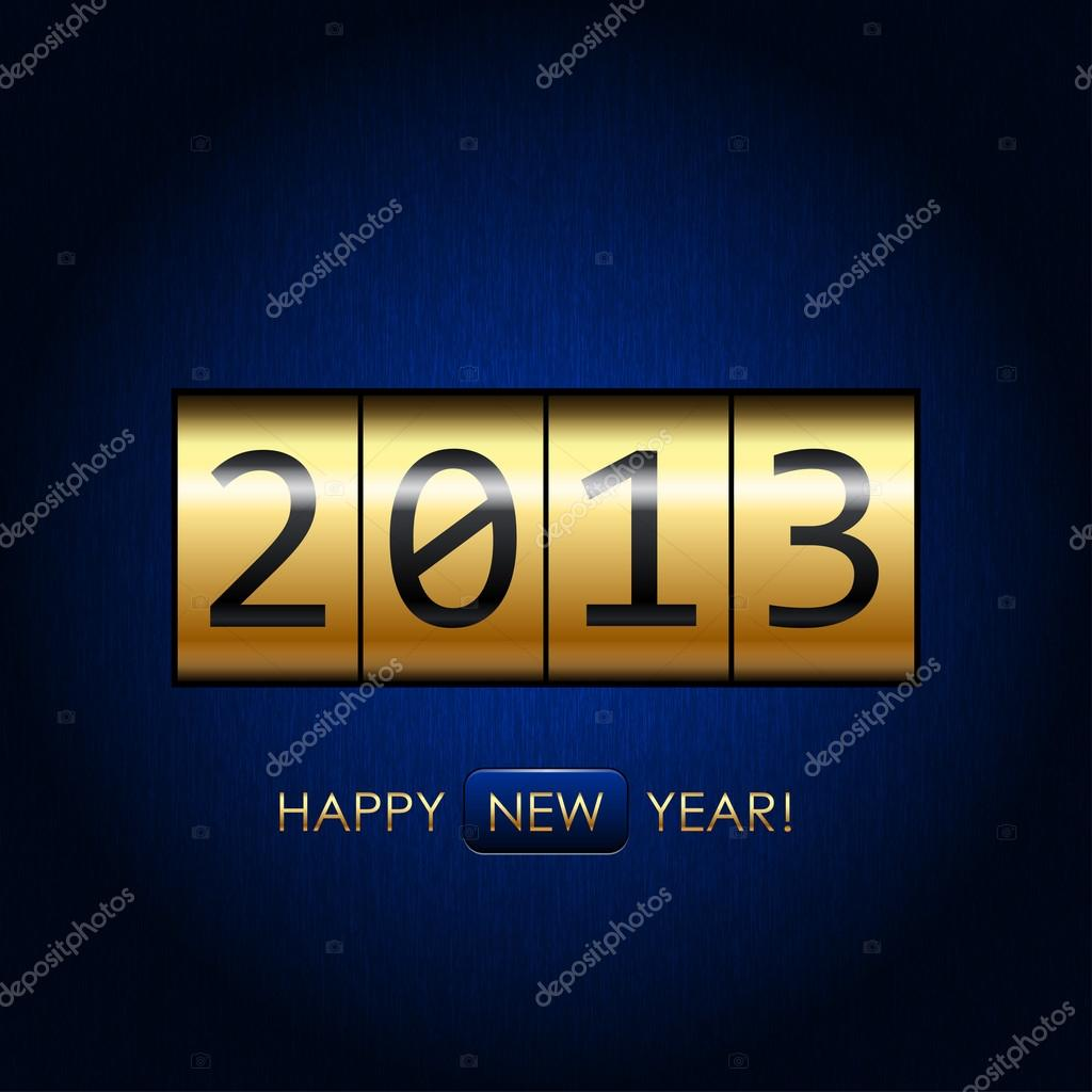 "Digital ""Happy New Year!"" background — Stock Vector #14747615"
