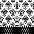 Vector black and white wallpaper — Stock Vector