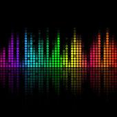 Vector música volumen abstact — Vector de stock