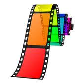 Ilustración vectorial de película colorida — Vector de stock