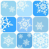 вектор снежинки шаблон — Cтоковый вектор