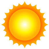 Vector illustration of sun — Vector de stock