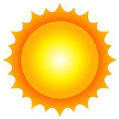 Vector illustration of sun — Stock Vector