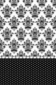 Vector black and white wallpaper — Stock Vector