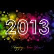 Vector Happy New Year - 2013 colorful background — Stock Vector