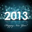 Vector 2013 - New year blue background — Vettoriali Stock