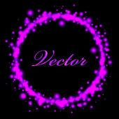 魔法のベクトル - ピンク フレーム — ストックベクタ