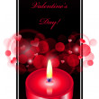 Vector romantic background with red candle — ベクター素材ストック