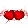 Royalty-Free Stock Vector Image: Vector two red hearts