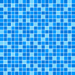 矢量蓝色瓷砖墙 — 图库矢量图片