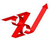 Vector 3d percent sign — Stock Vector