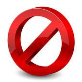 Vector illustration of 3d forbidden sign — Stock Vector